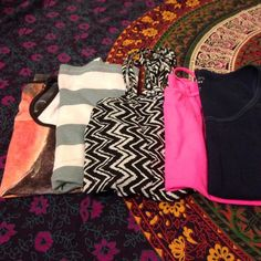 Bundle of 5 tank tops/camis Bundle of 5 tanks/camis. Varying fabrics and brands. All in good condition. PacSun Tops