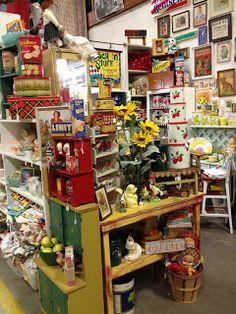 Dianne Zweig - Kitsch 'n Stuff: Visiting The Best Connecticut Antique Shop For Vintage Kitchen Collectibles Kitsch n Stuff Antique Show, Antique Stores, Retro Cafe, Antiques Online, Floral Rug, Display Shelves, Connecticut, Vintage Kitchen, Kitsch