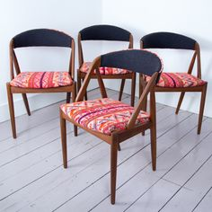 Tribal Chair Collection - A Rum Fellow Mid-century Danish chairs meet Peruvian patterned textiles