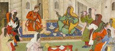 Africans. Detail of a 1590 Mughal painting. Museum Rietberg Zurich