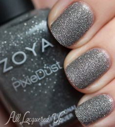 Zoya London Pixiedust Sand Texture Nail Polish Swatch All Lacquered Up Textured