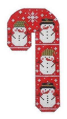 Plastic Canvas Coasters, Plastic Canvas Ornaments, Plastic Canvas Christmas, Plastic Canvas Crafts, Plastic Canvas Patterns, Cross Stitching, Cross Stitch Embroidery, Cross Stitch Patterns, Candy Cane Crafts