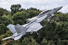 Super Hornet Skyward - F/A-18F Super Hornet blasts away from the runway as it begins its flight demonstration