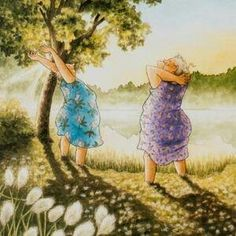 Pictures To Paint, Art Pictures, Illustrations, Illustration Art, Old Lady Humor, Drawing People, Old Women, Monet, Cool Art
