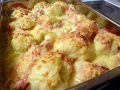 Mit diesem herzhaften Blumenkohl-Kartoffel-Gratin mit Schinken nach einem Rezept vom Foodfreak nehme ich am Fremdkochen für den Mukoviszidose e.V. teil.