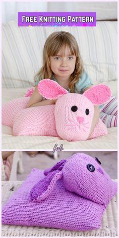 Knit Bunny Pillow Pal Free Knitting Pattern