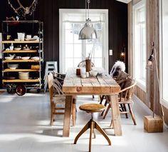 Bilderesultat for wood table black