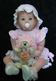 Reborn Baby Girl Sharlamae Sculpt by Bonnie Brown