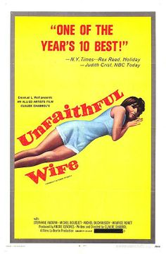 """The Unfaithful Wife (1969) """"La femme infidèle"""" (original title) Stars: Stéphane Audran, Michel Bouquet, Maurice Ronet, Michel Duchaussoy, Louise Chevalier ~  Director: Claude Chabrol ( National Board of Review, USA 1970 Winner Top 10 Films; 3rd place NSFC Award for Best Film, Best Actor & Best Director)"""