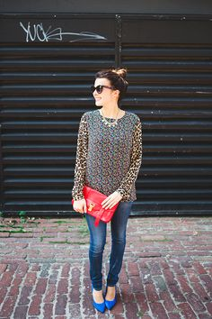 @Equipment Top + BaubleBar Necklace. Great outfit.