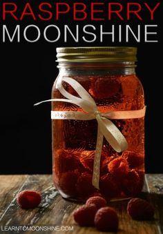 Raspberry moonshine has got to be one of my most popular recipes, and one of my favourite to taste! And snacking on the raspberries while I make it definitely makes it more fun! Hehe What You'll Need: 5 pounds Raspberries 6 pounds sugar 2 tbps yeast Homemade Moonshine, How To Make Moonshine, Making Moonshine, Homemade Alcohol, Homemade Liquor, Summer Drinks, Fun Drinks, Alcoholic Drinks, Liquor Drinks