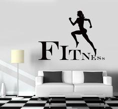 Wall Decal Fitness Girl Gym Woman Sport Vinyl Sticker (z3251)