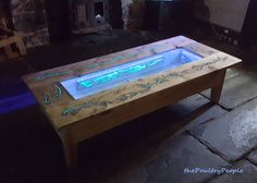 Decor and Design: DIY Pallet Coffee Table - Glow in the dark wood projects with Lichtenberg