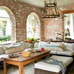 Entertaining Porch - Indoor Outdoor Fabric Ideas - Southern Living