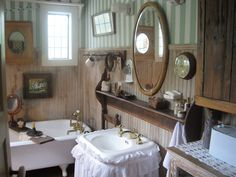 Like everything except the sink skirt. Should be burlap or tea stained linen like...