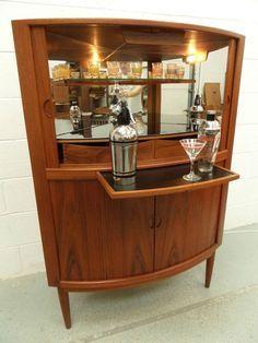 DANISH Mid Century Retro Vintage 50s 60s Cocktail Drinks Cabinet Home Bar