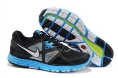 Nike LunarGlide 3 Black Blue White Men's Shoes