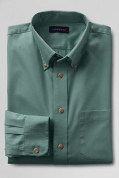 Men's Long Sleeve Performance Twill Shirt from Lands' End