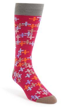 Lorenzo Uomo Tetromino Print Socks | Nordstrom