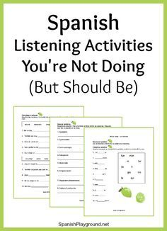 Spanish listening activities make the most of a video, song or story. Listening activities to focus on syllables, words and sentences before you start. Spanish Classroom Activities, Preschool Spanish, Spanish Teaching Resources, Spanish Language Learning, Preschool Crafts, Spanish Lessons For Kids, Spanish Basics, Spanish Lesson Plans, French Lessons