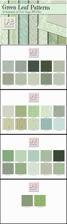 32 Leaf Pattern Fabric Textures