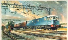 Electrification gathers pace (rather lovely image is from a 1950s British Railways poster by John Greene)