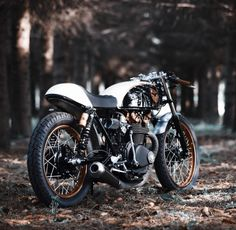 Cafe Racer in woods