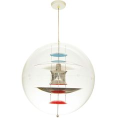 Verner Panton Globe | From a unique collection of antique and modern chandeliers and pendants at https://www.1stdibs.com/furniture/lighting/chandeliers-pendant-lights/