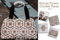 African Flower Crochet Purse – Part 1