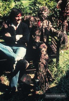 "Tom Savini with ""Nathan Grantham zombie"" (Episode 1 ""The Father's Day""). ""Creepshow"" directed by George A. Behind the scenes photos. Horror Books, Horror Films, Horror Art, Scary Movies, Great Movies, Zombie Movies, Tom Savini, Photos Rares, Movie Makeup"
