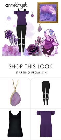 """Amethyst"" by teenageprincessgirl ❤ liked on Polyvore featuring Helix & Felix, INDIE HAIR, Topshop, City Chic, WearAll, Allurez, amethyst and stevenuniverse"
