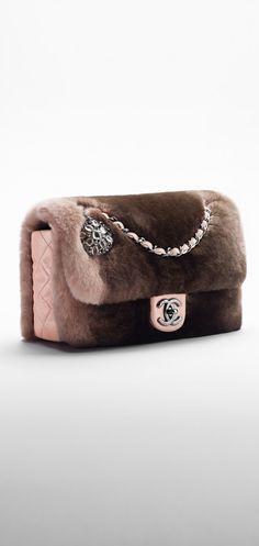 Orylag fur and lambskin flap bag... - CHANEL