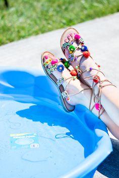 Chinese Laundry Posh Beaded Wrap Sandals