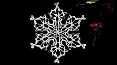 How To Crochet Snowflake # 17