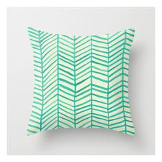 Mint Herringbone Throw Pillow ($20) ❤ liked on Polyvore featuring home, home decor, throw pillows, cat home decor, patterned throw pillows, cat throw pillow and abstract throw pillows