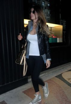 SHOPPING  , Ray Ban in Glasses / Sunglasses, Patrizia Pepe in Jackets, American Apparel in Leggings, all star in Sneakers, Louis Vuitton in Bags