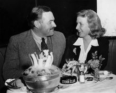 Picture: Ernest Hemingway and Martha Gellhorn. Pic is in a photo gallery for 'Hemingway & Gellhorn' featuring 23 pictures. Ernest Hemingway, Hemingway Quotes, Photo Album Scrapbooking, Scrapbook Albums, Hemingway & Gellhorn, Martha Gellhorn, Leonard Bernstein, Presidential Libraries, Great Depression
