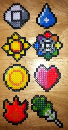 Hama Bead Pokemon Gym Badges.