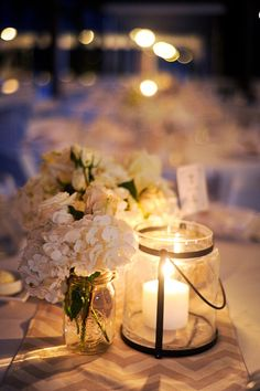 Romantic candlelit wedding lighting... Image: Misty Miotto
