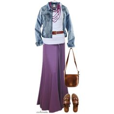 "I LOVE Maxi Skirts!!!  ""Lavender"" by archimedes16 on Polyvore Polyvore Clothes  Outift for • teens • movies • girls • women •. summer • fall • spring • winter • outfit ideas • dates • parties Polyvore :) Catalina Christiano"