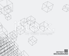 abstract cube pattern background royalty-free stock vector art