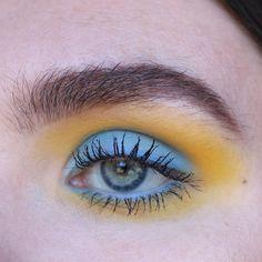 blue and orange eyeshadow