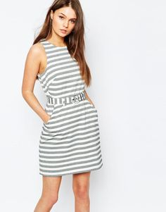 New Look | New Look Stripe Belted Dress at ASOS