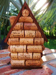Wine Cork Birdhouse by EasyLifeInspirations on Etsy