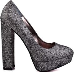 #ParisHilton Heel Pewter Glitter Heels a Sparkly Shoes for a Hollywood Party or Club upon Party Fun or Bridal Shoe Idea