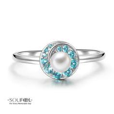 Soufeel Blue Whirlpool Pearl Ring 925 Sterling Silver Shop->http://www.soufeel.com/blue-whirlpool-pearl-ring-925-sterling-silver.html ?utm_campaign=Pin
