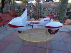 Vintage 1950's garton space cruiser pedal car rocket atomic space age ride/toy