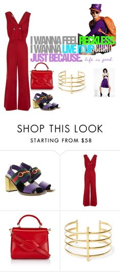 """""""Just be. Just because."""" by obsessedaboutstyle on Polyvore featuring Moschino, Gucci, VIVETTA, Lulu Guinness, BauXo, love, fashionblogger and StyleBlogger"""