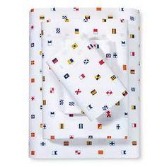 Nautical Flags Sheet Set (Twin XL) Multicolor - Poppy & Fritz® : Target