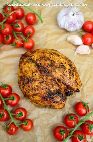 Kuchnia szeroko otwarta: Fit! Aromatyczna i krucha pieczona pierś z kurczaka Mad Cook, Reflux Diet, Tandoori Chicken, Salmon Burgers, Curry, Food And Drink, Dishes, Meat, Vegetables